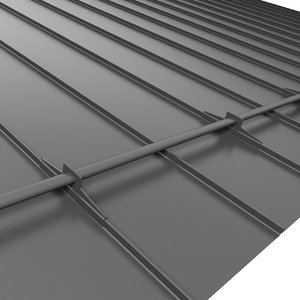3d model of metal roofing