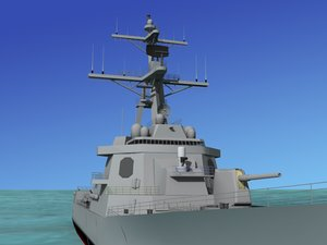 3d model ship arleigh burke class