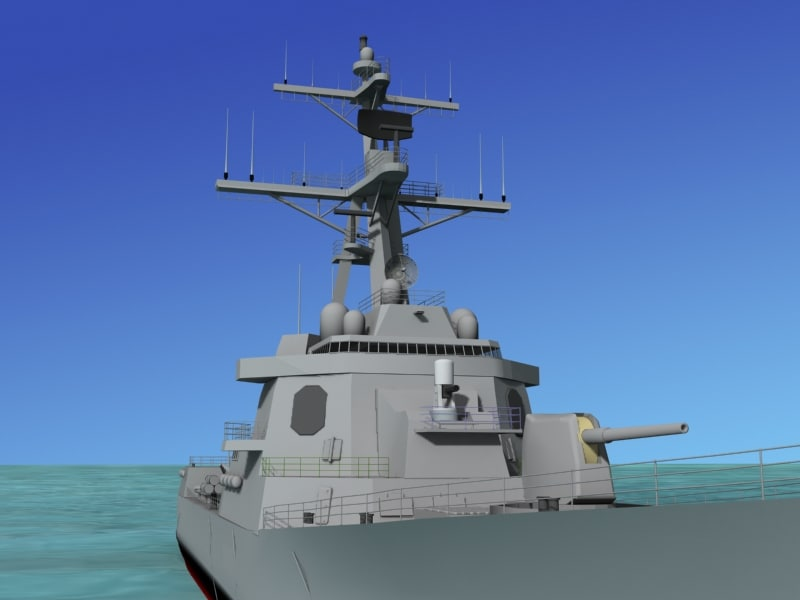 ship arleigh burke class 3d model