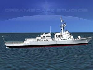 ship arleigh burke class 3d dxf