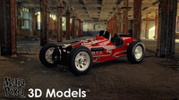 Vintage Sprint Car 3D Model by Media Pixel™