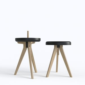 3d flip chair table