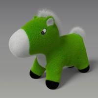 presented toy pony 3d model
