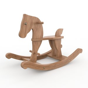 wooden rocking horse max