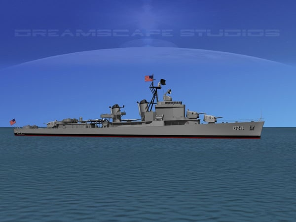 anti-aircraft gearing class destroyers 3d model