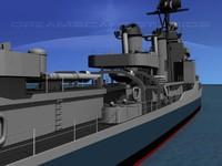 anti-aircraft gearing class destroyers 3d model