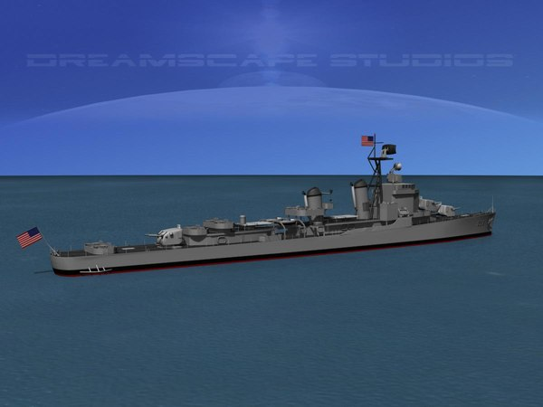 anti-aircraft gearing class destroyers 3d max