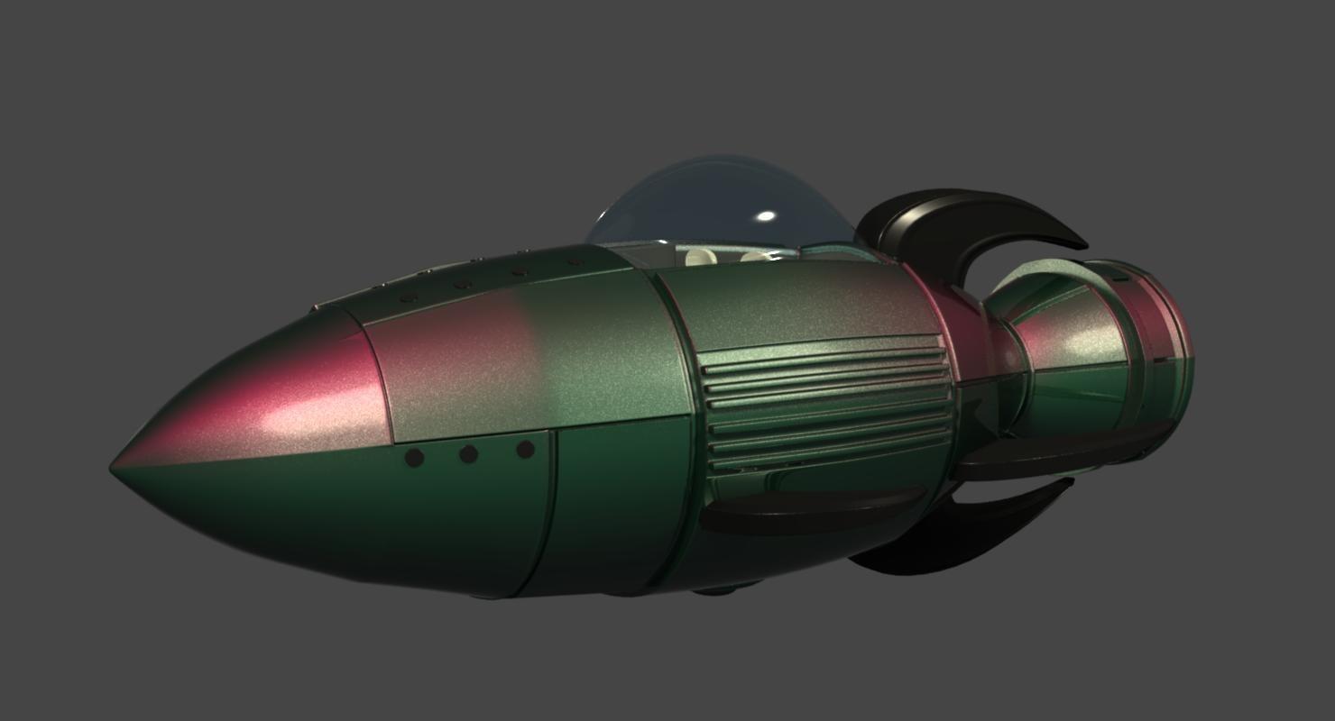 rocket rocketship obj