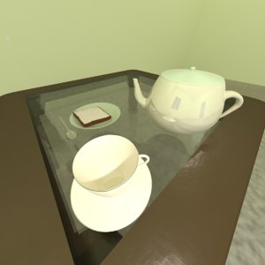 teacup saucer kettle cheese 3d model