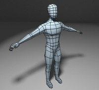 base mesh low poly human body