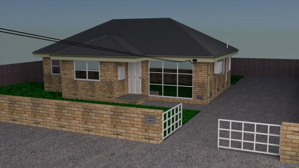 house suburban urban 3ds