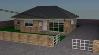 house suburban urban 3ds