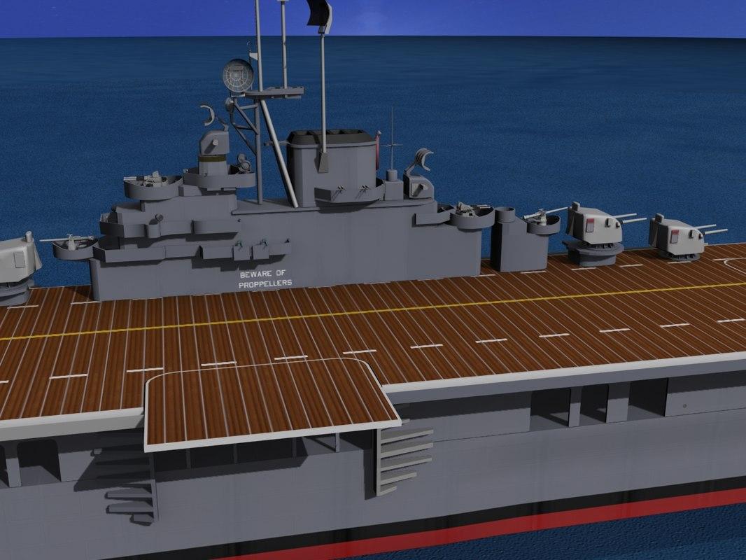 class carriers essex uss 3d max