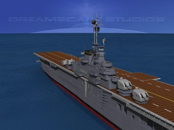 class carriers essex uss 3d dxf