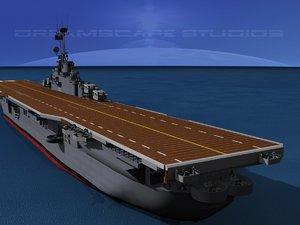 3d class carriers essex uss model