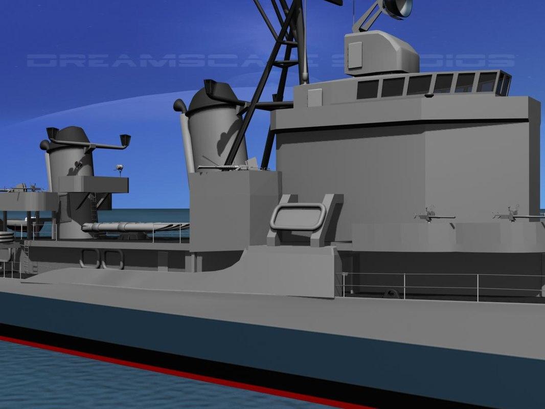 anti-aircraft gearing class destroyers obj