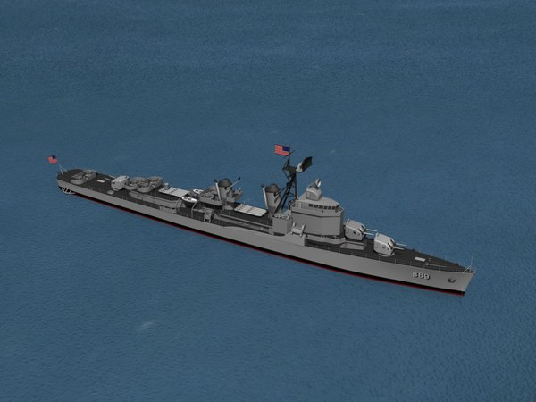 3d model of anti-aircraft gearing class destroyers