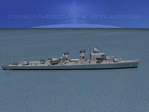 3d model of sumner class destroyers