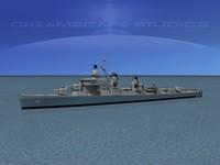 sumner class destroyers 3d max