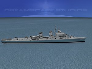 sumner class destroyers 3d model