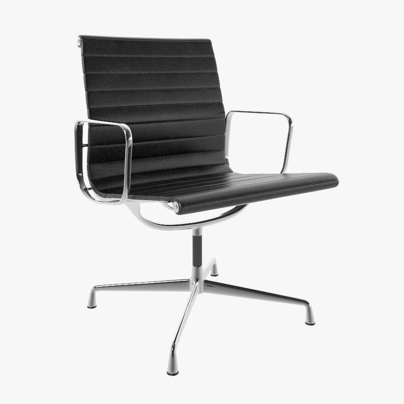 eames aluminium vitra chair 3d obj