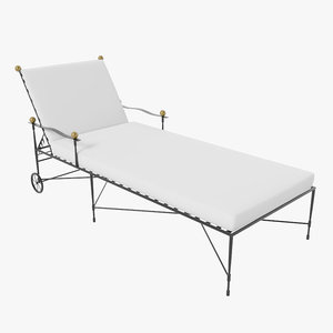 amalfi chaise lounge 3d model
