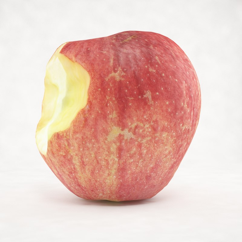 3ds max realistic crunched apple
