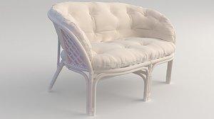 furniture rattan bamboo 3D model