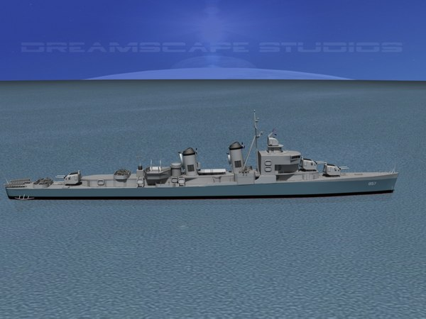 3d sumner class destroyers model