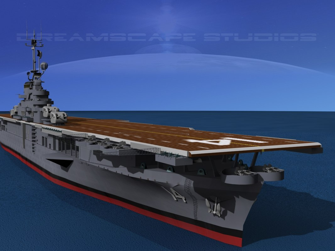 3d model anti-aircraft class carriers ticonderoga