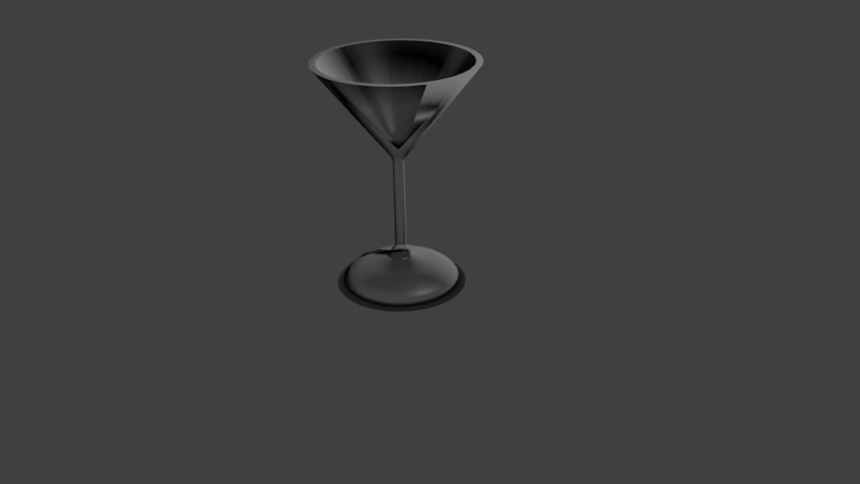 martini glass 3d obj