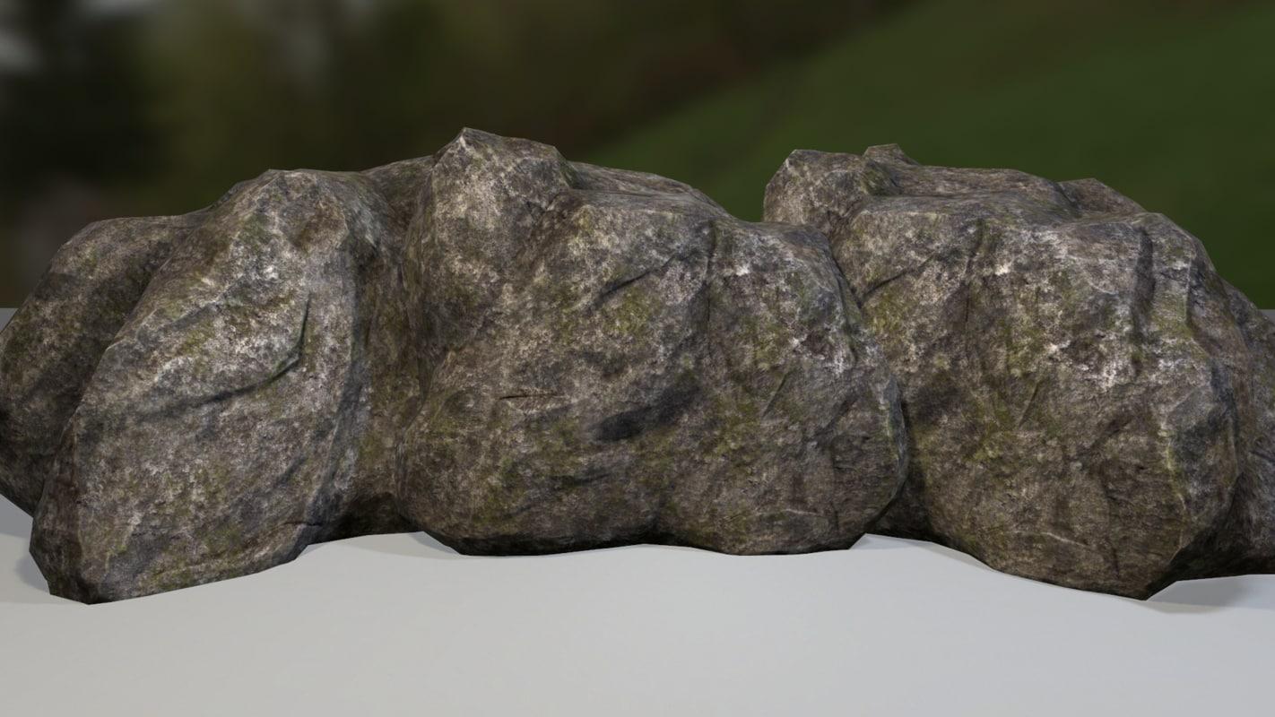ready rock formation 3d model