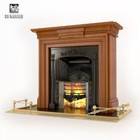 fireplace regency stovax 3d max