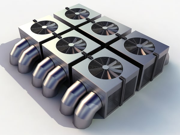 cooler ac hvac 3d model