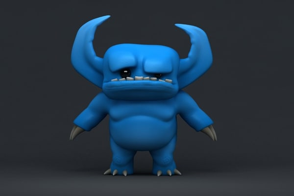 cartoon devil - 3d model
