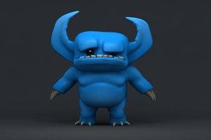 cartoon devil - 3d model