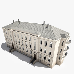 realistic classic house 3d model