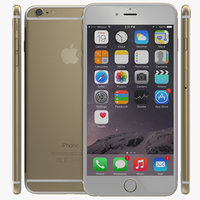 3d iphone 6 gold 2