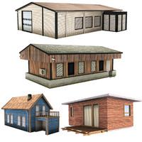 3d model realistic modern house
