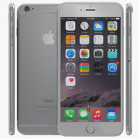 3d iphone 6 silver 2