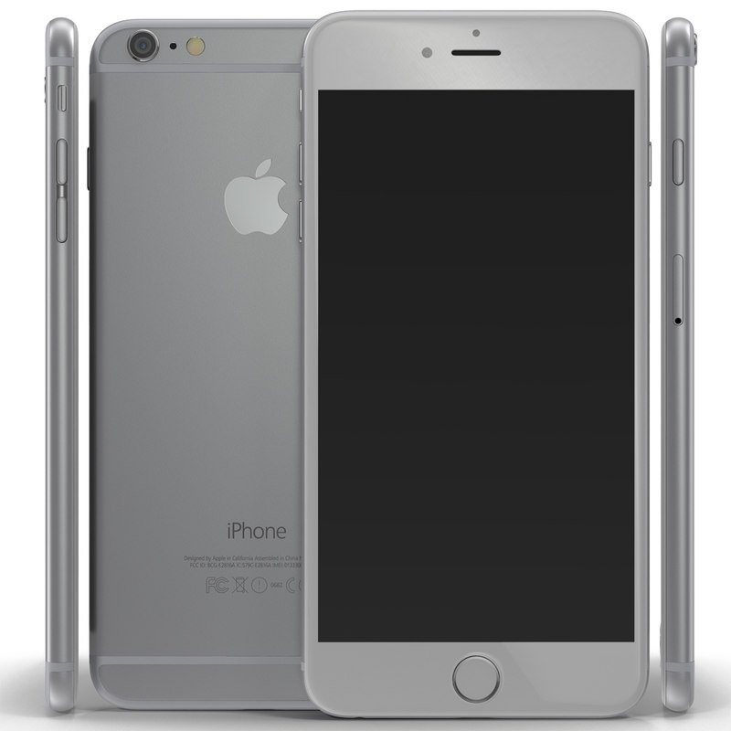 3d iphone 6 silver modeled model