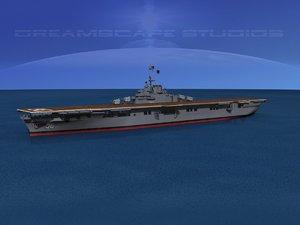 anti-aircraft class carriers ticonderoga 3d model