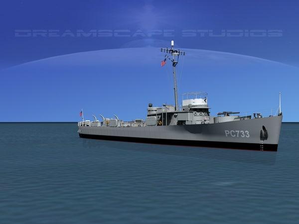 3d model pcs submarine chasers