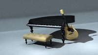 Piano Guitar Sofa