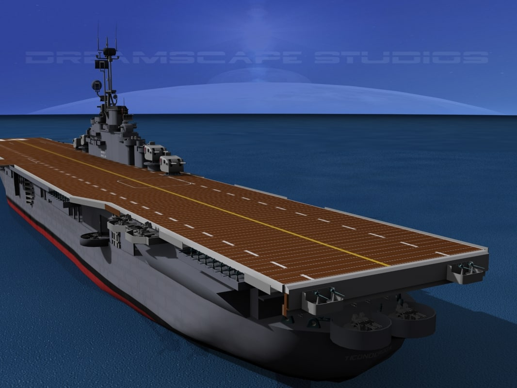 anti-aircraft class carriers ticonderoga 3d model