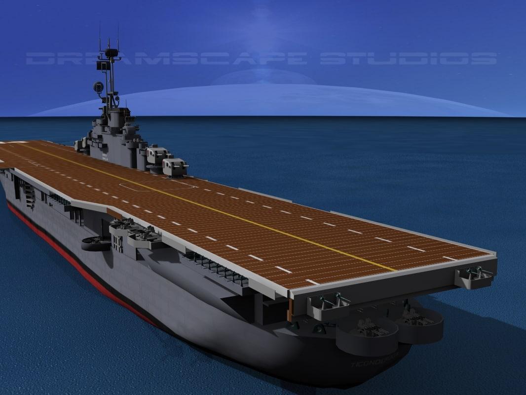 3d anti-aircraft class carriers ticonderoga