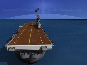 anti-aircraft class carriers ticonderoga 3d dwg