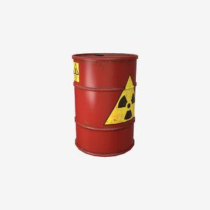 3d model red barrel