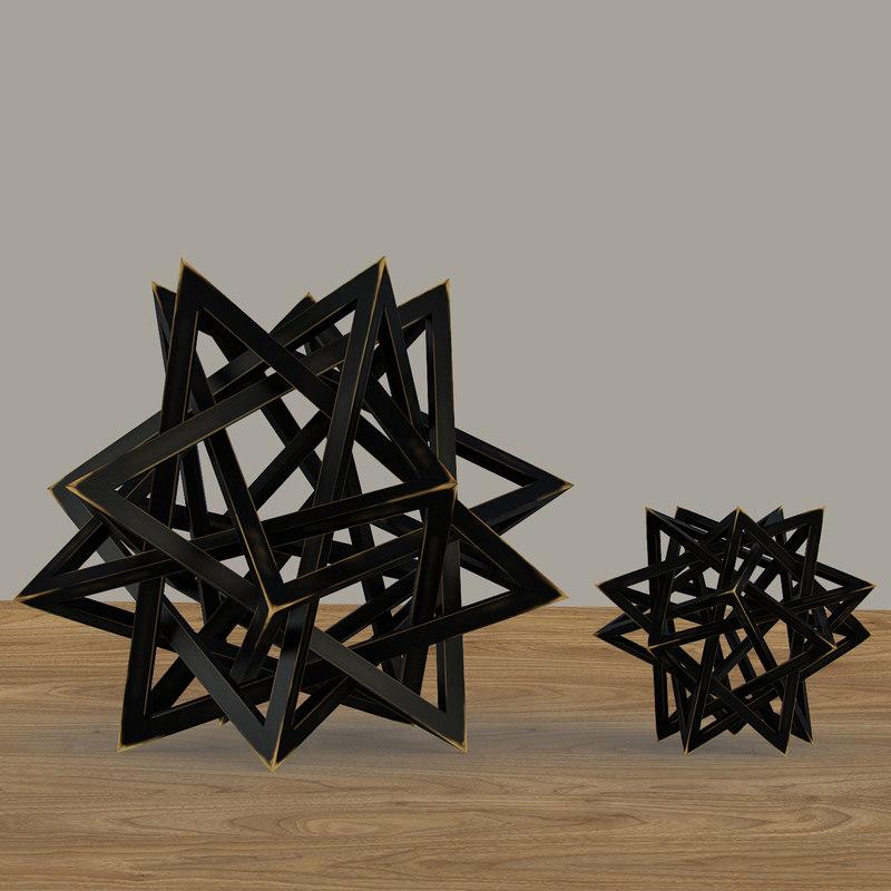 wood star maquette black max