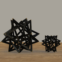 wood star maquette black max